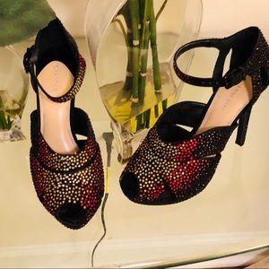 Gianni Bini Dazzling Sparkling Black Holiday Shoes